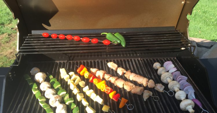 Fresh Chicken and Veggie Kabob